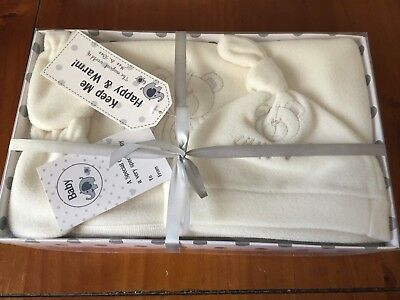 Baby Gift Set, Christening, Birth, New Baby, Gift Boxed, Cream, Embroidered.