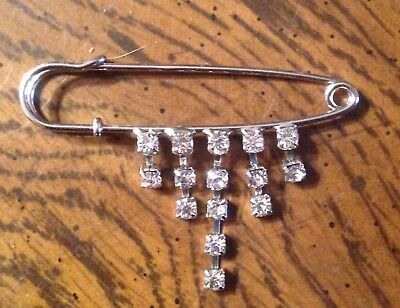 Rhinestone Stock Tie Horse Show Ratcatcher Fox Hunting Eventing Dressage Pin