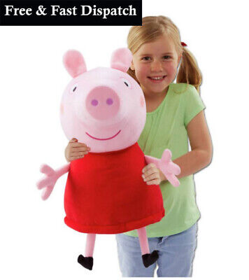 Peppa Pig Giant Talking Peppa Soft Toy Cuddle 20 Inch Soft Toy Pink Brand NEW