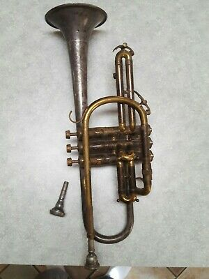 Vintage King Silvertone Cornet, Serial #251697 Used Condition. Early 1940s