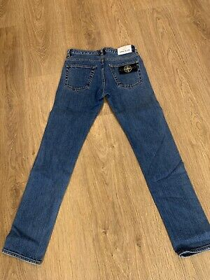 Boys Genuine Junior Stone Island Jeans Slim Fit Age 10 (Worn Twice) (RRP £130)