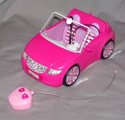 BARBIE Glam HOT Pink Convertible Remote Control Car