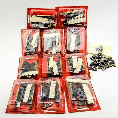 """Vintage Amerock Lot of 11 Pair (22)Hinges with Strap 3/8"""" T-7772 Antique English"""