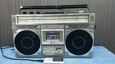 Sharp GF-6161 Ghettoblaster 4Band Stereo Radio Recorder rare 80er