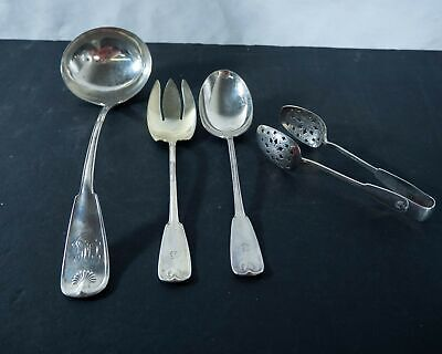 """Tiffany and Co. """"Palm"""" sterling silver serving pieces, 4pc"""