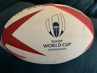 Official Rugby World Cup 2019 Japan Rugby Ball Red. Gilbert.