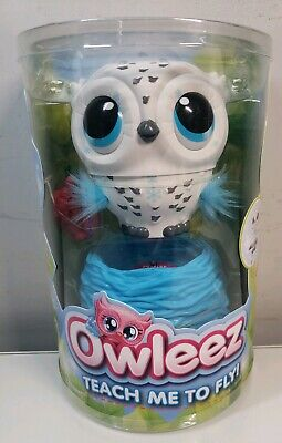 Owleez Flying Baby Owl Interactive Toy with Lights and Sounds White for Kids ...