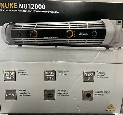 Behringer iNUKE NU12000 Class-D High-Density 12000W Power Amplifier, Brand NEW