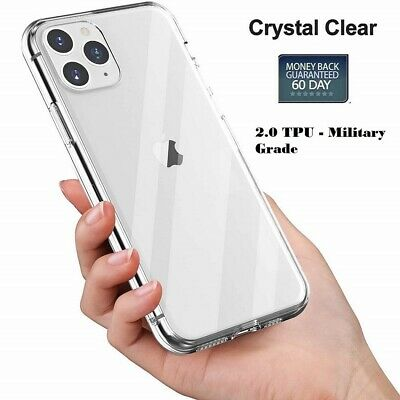 [Clear 2.0mm] For iPhone 7,8, Plus, X, XS Max, XR, 11 Pro Case Shockproof Cover