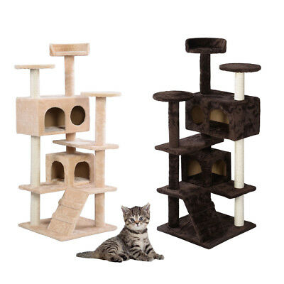 """52"""" 60"""" 80"""" Cat Tree Tower Condo Furniture Scratch Post Tree Kitty Play House"""