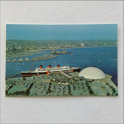 Los Angeles Queen City On The Pacific Coast Long Beach Postcard (P387)