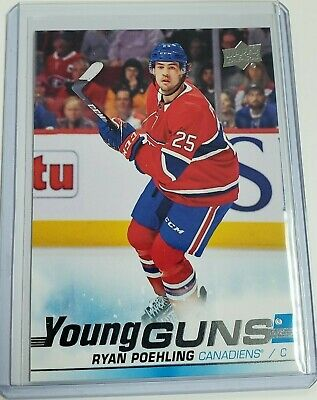 2019-20 UD Series 1 Ryan Poehling Young Guns Rookie RC #226 Montreal Canadiens