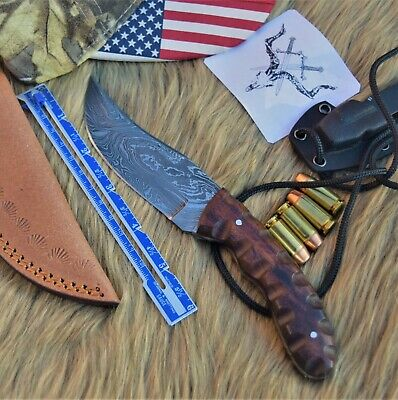 "Handmade Damascus Steel Hunting knife 8"" Full Tang Rose Wood Handle...DSD0023"