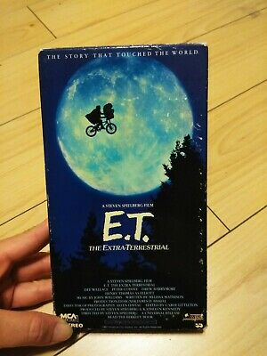 Universal Pictures vhs tapes movies Steven Spielberg E.T.