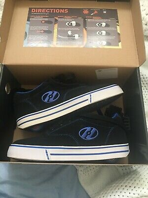 Heelys roller shoes Blue and White. Like new
