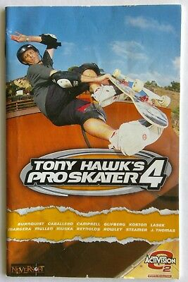 Tony Hawk's Pro Skater 4 Sony PlayStation Manual Only Instruction Booklet