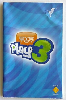 Eye Toy Play 3 Sony PlayStation Manual Only Instruction Booklet