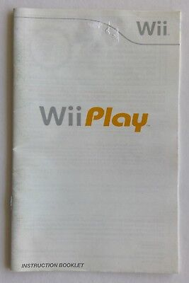 Wii Play Nintendo Manual Only Instruction Booklet