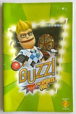 Buzz! The Sports Quiz Sony PlayStation Manual Only Instruction Booklet