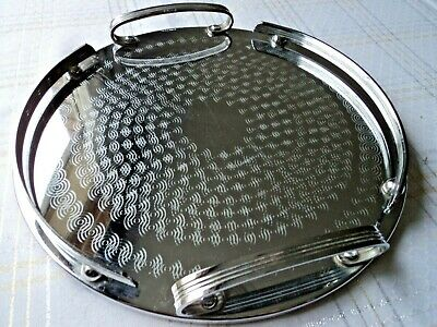 Art Deco Ranleigh Tray (Round), with gallery sides - 29 cms