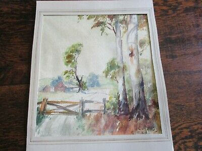 Les Rees Signed Watercolour  Unframed