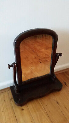 Antique wooden dressing table mirror