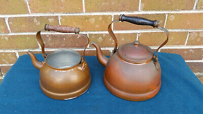 Vintage Duoro copper tea pots