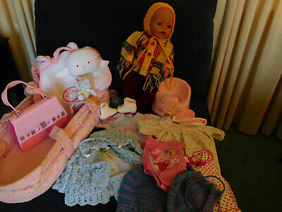 Zapf Creations Baby Born doll Bulk Lot: Clothes, Accessories inc ZC Baby Carrier