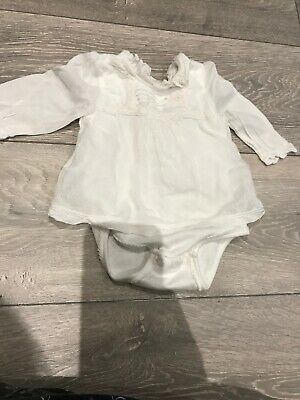 Beautiful Mothercare Baby Girl Vest / Top / Bodysuit / Lace / 1-3 Months