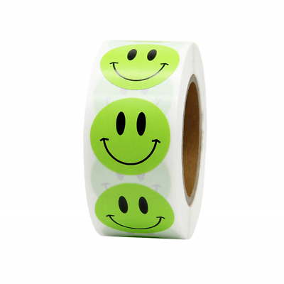 Hcode 1 inch 25mm Smiley Face Stickers Roll Happy Face Stickers Circle Dots 500