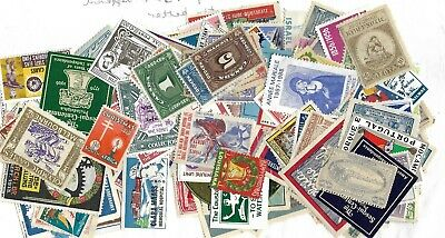 Cinderellas  World Lot of 150 + different stamps with better