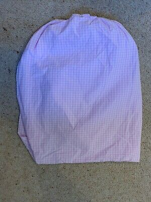 The little white company Cot Pink Gingham Fitted Sheet