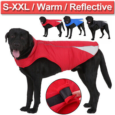 Waterproof Warm Winter Dog Coat Clothes Dog Padded Fleece Pet Vest Jacket S-XXL
