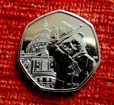 2019 Paddington Bear at St Pauls Cathedral 50p piece UNC from a sealed bag