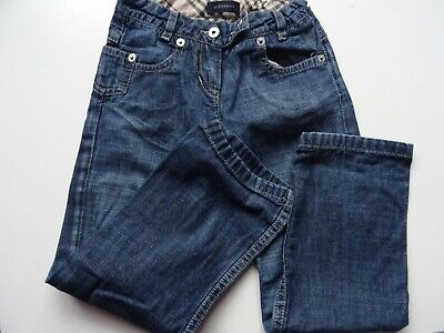 Burberry girls kids jeans denim trousers age size 4 years jean excellent conditi