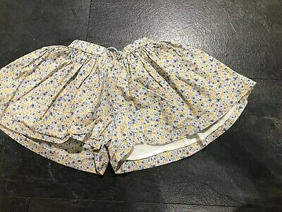Next Age 2-3 Years Floral Shorts Blue Yellow Cullottes Skirt