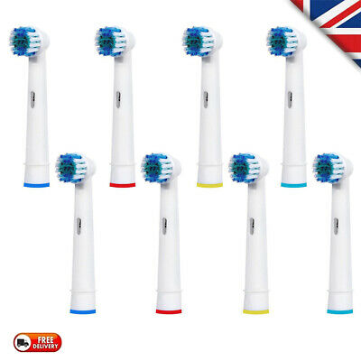 8Pcs Electric Toothbrush Replacement Heads Compatible With Oral B Braun Model UK