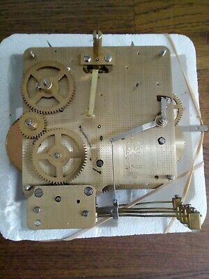 Vintage Clock FHS Franz Hermle 341-021 Machinery Germany Movement