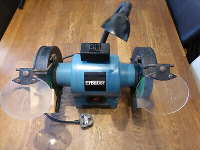 Erbauer Heavy Duty 370W Double Bench Grinder With Work Light