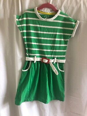 Little Bird At Mothercare Jools Oliver Green Stripe Girls Dress with Belt Age 5