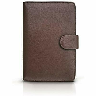 RFID Blocking Leather Travel Passport Holder With Snap, Bifold Wallet Men And