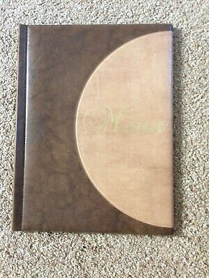 A4 Restaurant Menu BROWN / BEIGE with 6 Plastic pages - Easy Clean x 25