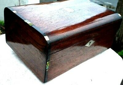 Antique  domed  top Writing slope With inkwel fitted interior. lovely patina