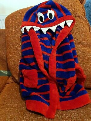 Boys 6 - 9 Months Monster Dressing Gown Winter Snuggly Warm