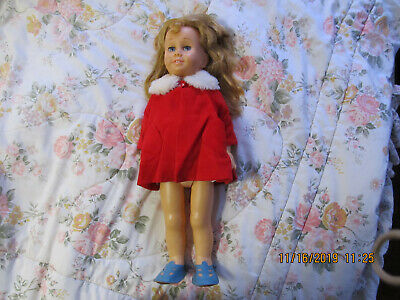 1960'S CHATTY CATHY DOLL Blonde hair Blue eyes SOFT FACE Vintage