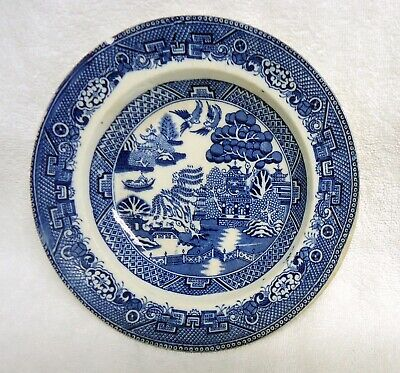 """Antique RARE very old Willow Ware """"MADE IN ENGLAND"""" soup dish / cereal bowl"""