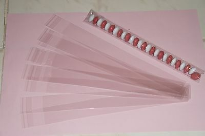 BRAND NEW 20 x CLEAR CELLOPHANE SKINNY  TREAT LOLLY/LOOT BAGS PARTY FAVOURS,