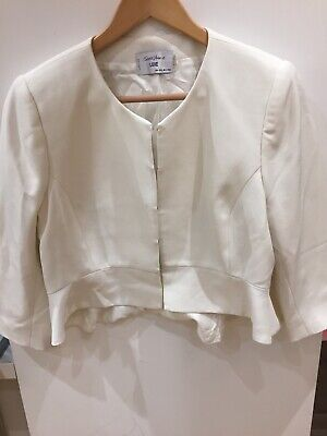 Seraphine Luxe Maternity Jacket Ivory 16