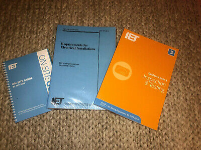 IET Wiring Regulations 18th Edition + IET On Site Guide + IET Guidance Note 3