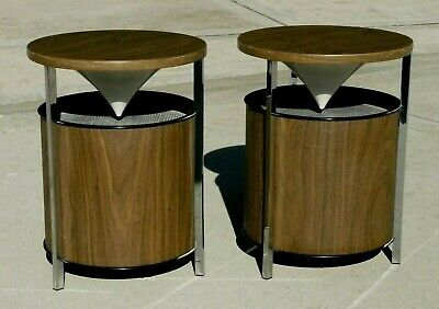 Zenith Circle of Sound Mid-Century Modern Omni Directional Stereo Speakers 1964